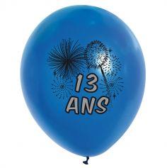 10 Ballons de Baudruche multicolore 13 ans