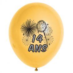 10 Ballons de Baudruche multicolore 14 ans