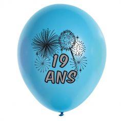 10 Ballons de Baudruche multicolore 19 ans