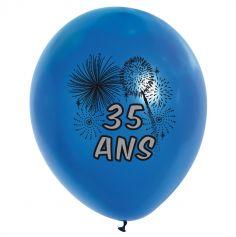 10 Ballons de Baudruche multicolore 35 ans