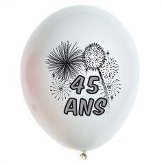 10 Ballons de Baudruche multicolore 45 ans