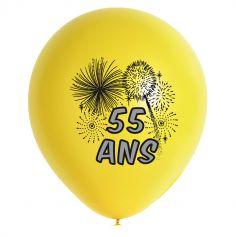 10 Ballons de Baudruche multicolore 55 ans