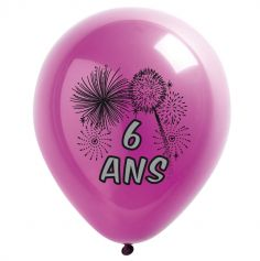 10 Ballons de Baudruche multicolore 6 ans