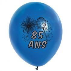10 Ballons de Baudruche multicolore 85 ans