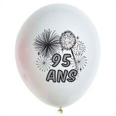 10 Ballons de Baudruche multicolore 95 ans