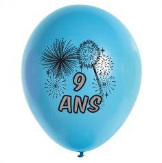 10 Ballons de Baudruche multicolore 9 ans