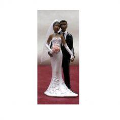 Figurine Mariage Couple 12 Cm - robe et costume paillettes | jourdefete.com
