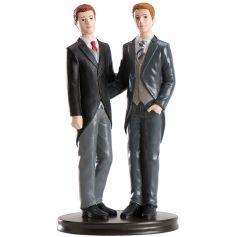 Figurine Gâteau Mariage Couple Mariés