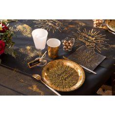 10 Assiettes en carton Bonne Année Etincelant - 22,5 cm