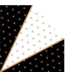 12 serviettes en forme de Diamant Smoking - 16,5 cm
