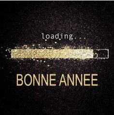 """20 serviettes en papier """" Loading Bonne Année """" - 16,5 cm"""