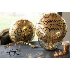 Ballon en aluminium Bonne Année Etincelant - 45 cm
