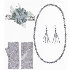 Kit d'accessoires Femme Charleston - Gris