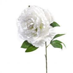 fleur-pivoine-blanc-avec-tige-80cm|jourdefete.com