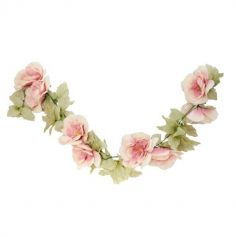 guirlande de roses couleur vieux rose | jourdefete.com
