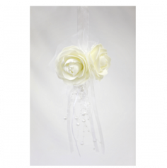 Suspension Roses et Perles - Blanc