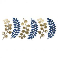 fougere-eucalyptus-bleu-or-décoration | jourdefete.com