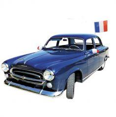 Drapeau pour voiture tricolore de la France - 40 cm