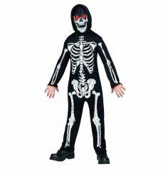 Déguisement de squelette garçon aux yeux clignotants - Taille aux choix