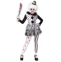 Déguisement Femme - Clown Noir et Blanc - Taille au Choix