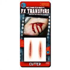 """Transfert cicatrice 3D """"Coupures"""""""