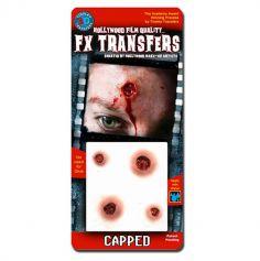 """Transfert cicatrice 3D """"Impacts de balles"""""""