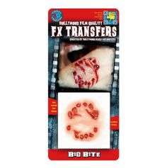 "Transfert cicatrice 3D ""Grosse Morsure"""