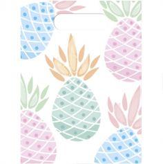 Lot de 6 Sacs cadeaux Ananas