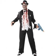 Déguisement Gangster Zombie Homme - Taille au Choix