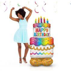 Ballon Géant AirLoonz™ - Gâteau d'Anniversaire
