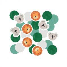 confettis de table les animaux de la jungle | jourdefete.com