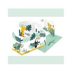 8 invitations avec enveloppes les animaux de la jungle | jourdefete.com