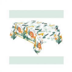 nappe en papier les animaux de la jungle | jourdefete.com