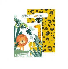 8 sacs cadeaux en papier les animaux de la jungle | jourdefete.com