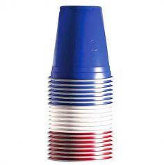 """Sachet de 20 gobelets """"Beer Pong"""" France Bleu-Blanc-Rouge"""