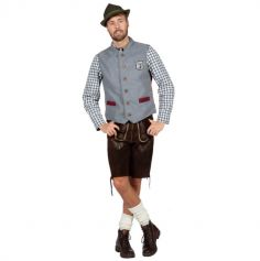 Gilet Oktoberfest - Gris - Homme - Taille au choix