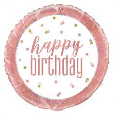 ballon-helium-decoration-salle-glitz-rose-gold-anniversaire | jourdefete.com