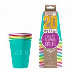 20 Gobelets en Carton - Beer Pong - Summer Pack