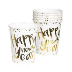 verres-gobelets-carton-vaisselle-jetable-nouvel-an-bonne-année | jourdefete.com