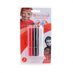 Pack de 3 sticks de maquillage Pirate VampireGrim'Tout