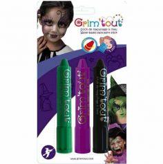 Pack de 3 Sticks de Maquillage Soricère Vampire Grim'Tout