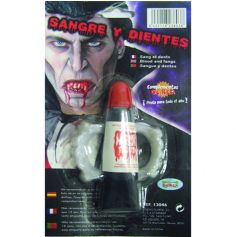 Dents de Vampire avec Faux Sang