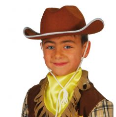 Chapeau Cow-Boy Marron Enfant