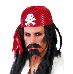 Bonnet Pirate Rouge et Noir Adulte