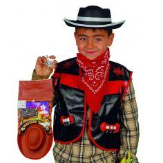 Set de Déguisement Cowboy Gilet Garçon - Coloris au Choix