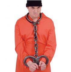 Accessoire de Déguisement Chaines Cou et Mains