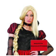 Perruque Natte Blonde aux Araignées Femme
