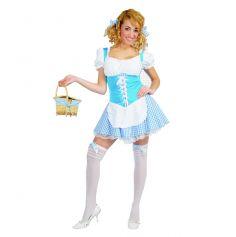 déguisement robe sexy paysanne bleue