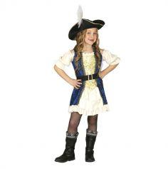 Déguisement Capitaine Pirate fille - Taille au choix