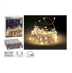 Guirlande de Lumières LED - Blanc Chaud - 495 cm